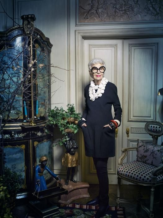 Iris Apfel in her home photographed by Victoria Will