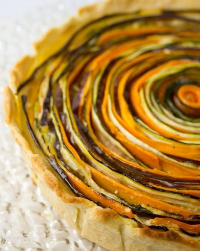A spiral vegetarian tart