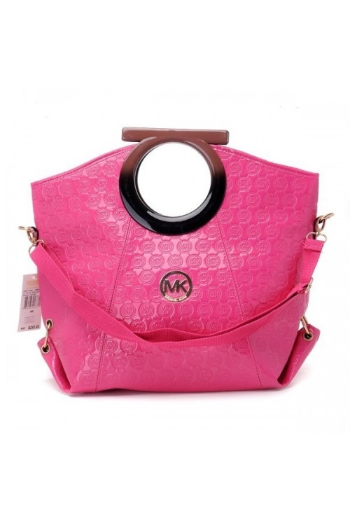 Michael Kors Monogrammed Ring Handbag Rose Top handles with rings