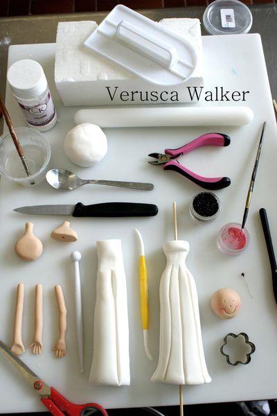 Tutorial #1: Cake Toppers Bride - by Verusca Walker @ CakesDecor.com - cake decorating website