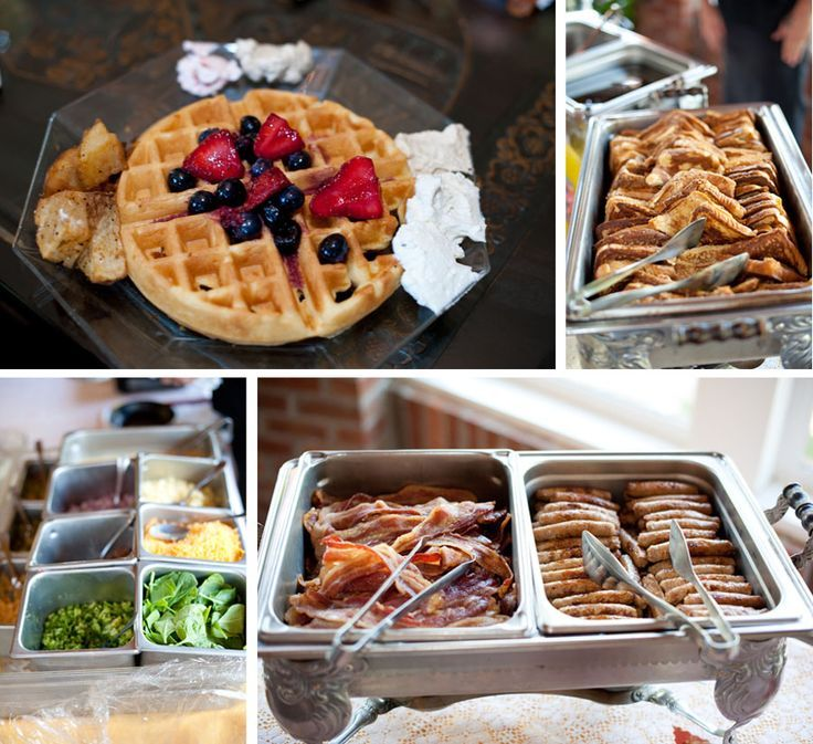 brunch wedding reception; omelette station, yes yes yes! if only my other half would agree lol