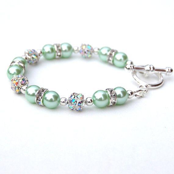 Menta verde gioielli braccialetto verde della menta menta