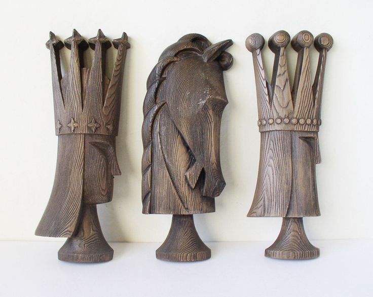 Chess pieces plastic wall hangings. $32.00, via Etsy.