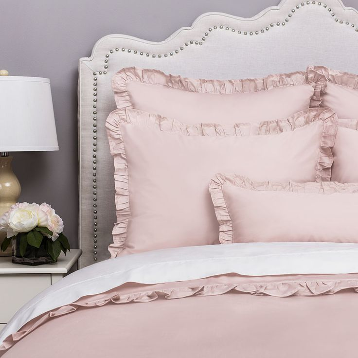 Pink Ruffle Bedding | The Vienna Dust Pink | Crane & Canopy