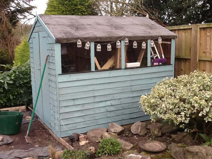 our newly painted shed