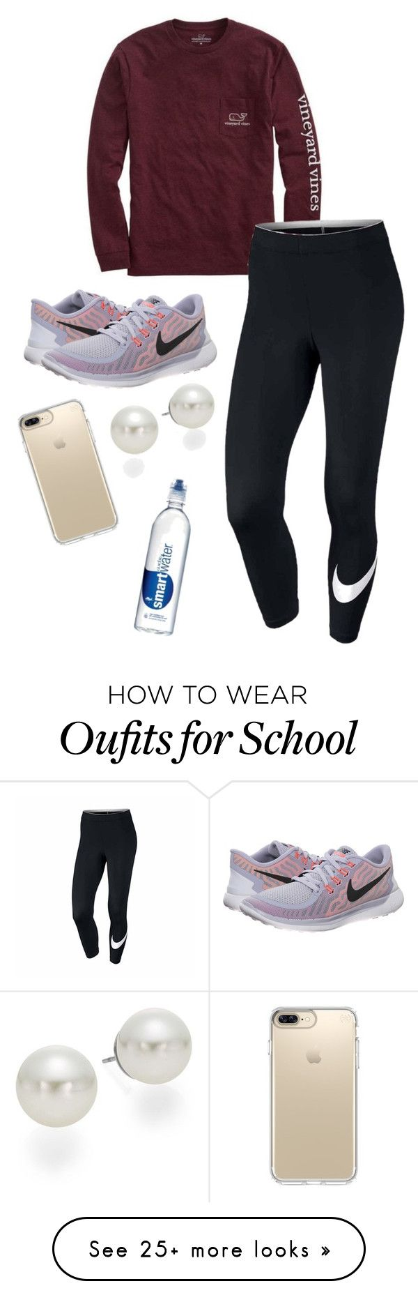 """Middle School"" by rkidd1716 on Polyvore featuring Vineyard Vines, NIKE, AK Anne Klein and Speck"