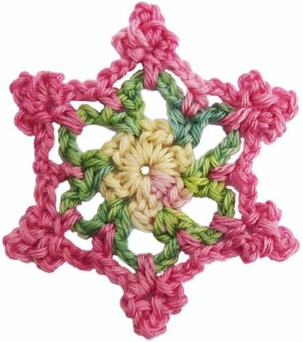 how to turn a circle into a square crochet