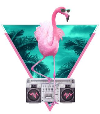 Miami Flamingo by Astronaut R$44