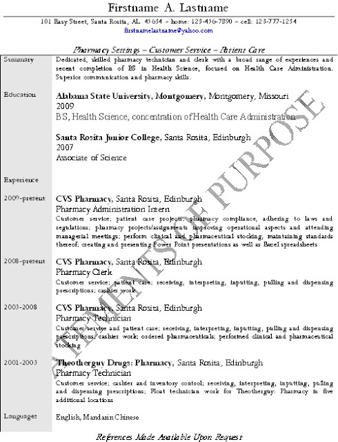 Good resume for a PharmD applicant Best resume, Cv