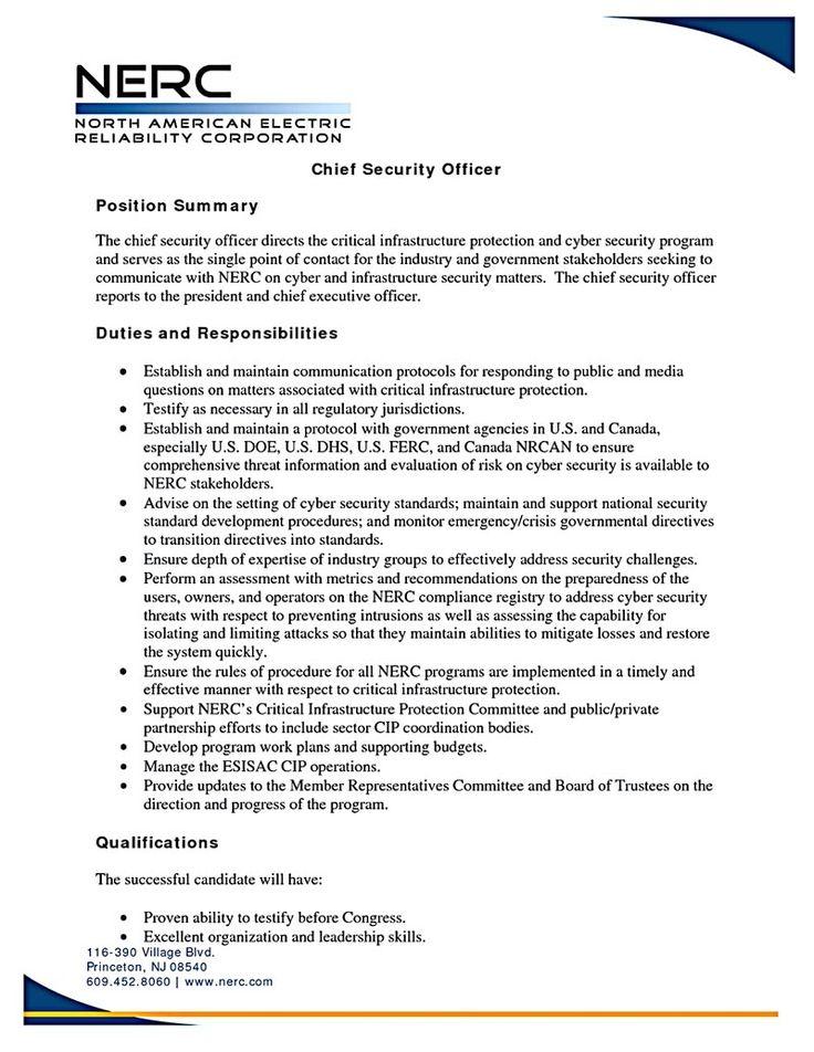 security officer resume Security officer resume needs to