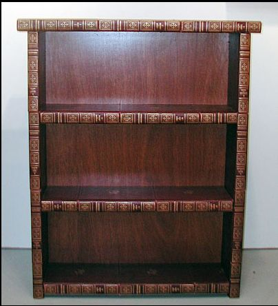 What to do with those old encyclopedia's? Make a book case!! ENCYCLOPEDIA BOOKCASES Typically built from sets of encyclopedias over a framework of recycled wood, these freestanding cases may be filled with books. They are as strong as any wooden case. Shelves maybe fixed at any height, not adjustable. All are built to order so that the color and dimensions suit your room.