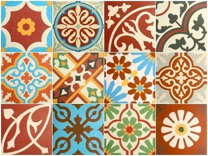 VN Patchwork Rood tinten Portugese cementtegel van Designtegels.nl