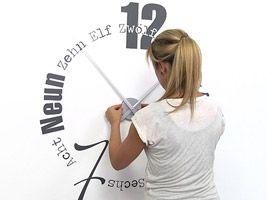 Designer Uhr als Wandtattoo zum Aufkleben :)  #Uhr #Design