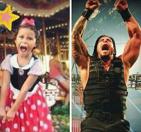 Joe Anoa'i (Roman Reigns) and his daughter Joelle