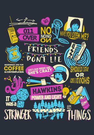 Poster Stranger Things  do Studio Kaolporfirio por R$39,00