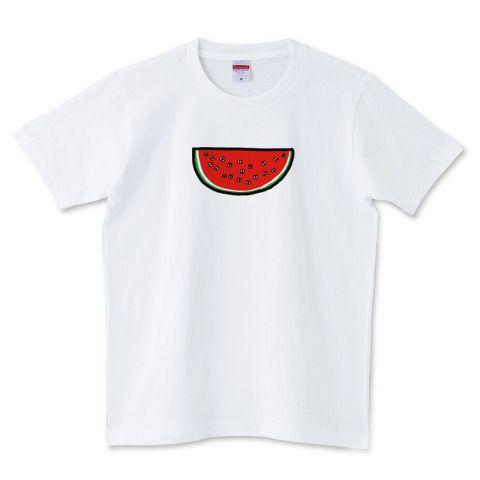 そこには何かいるモン!? in スイカ Illustrated by ショウタロー #Tシャツ #tshirts #イラスト #デザイン #スイカ #watermelon