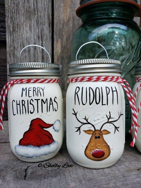 Mini Ball Mason Jar Christmas Ornaments Christmas Mason Jars Ball Mason Jars Christmas Jars