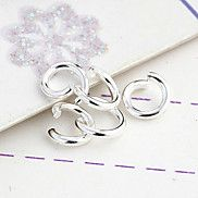 Durable Round Silver-Plated Clasps 200 Pcs/Bag – USD $ 1.99