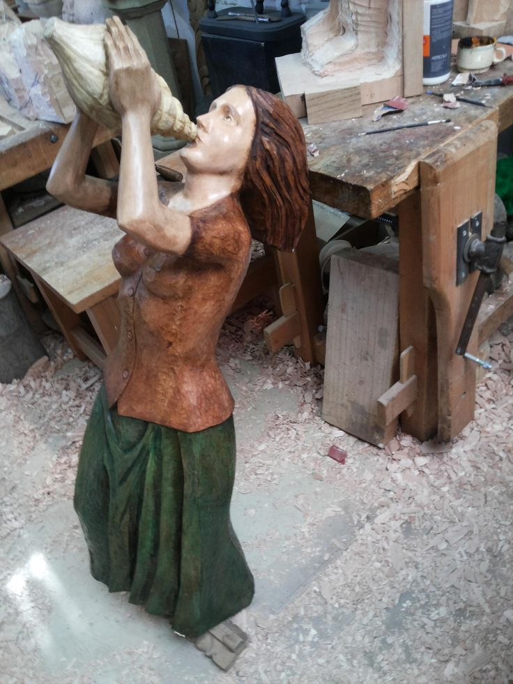 https://flic.kr/p/HUQCAe | mascaron de proa 120cm madera  lenga 2015-07-29 14.48.25