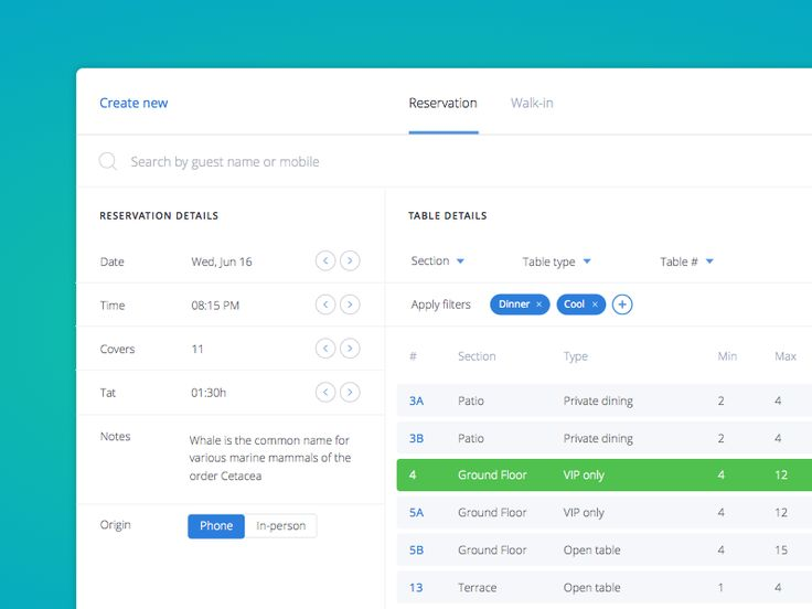 Best Reservation Images On   Ui Ux Interface Design
