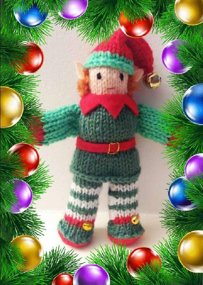 Cute CHRISTMAS ELF KNITTING pattern, Santa's little helper, easy knit, Xmas gift by KwerkyKnits on Etsy