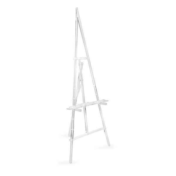 A31211 Adjustable Acrylic Floor Easel (60h x 21.5w x 2.50)
