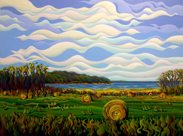 Gaspe's Grand Serenousphere  48 x 36  Acrylic on Canvas