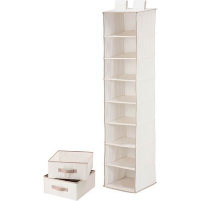 Honey Can Do 8 Shelf Hanging Vertical Closet Organizer W 2 Drawers