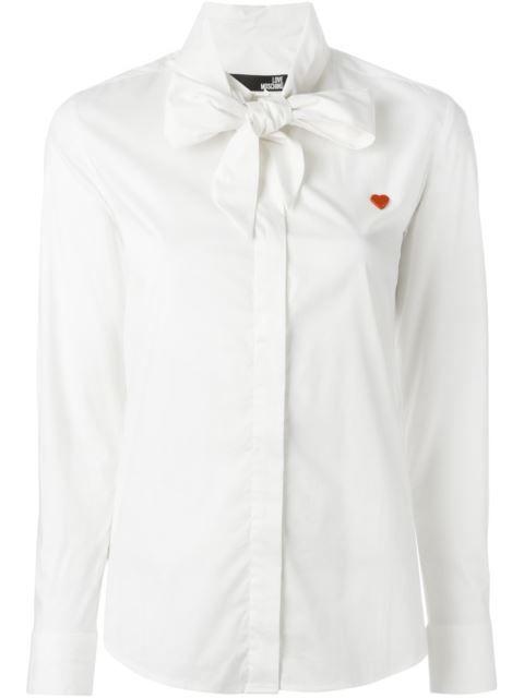 Love Moschino chemise à col lavallière