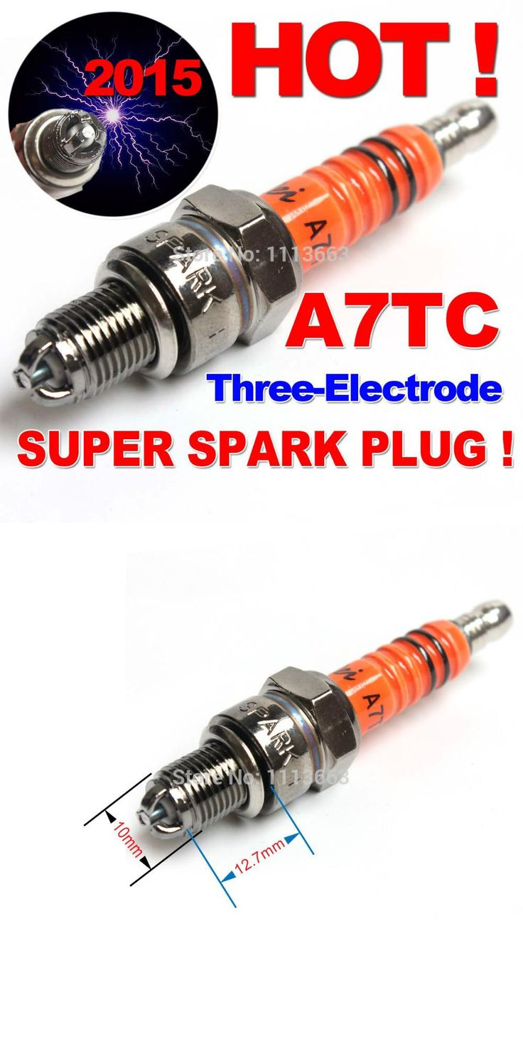 [Visit to Buy] Three-electrode Performance A7TC A7TJC Motorcycle Spark Plug 50cc 70cc 110cc 125cc 150cc ATV Dirtbike Moped Scooter #Advertisement