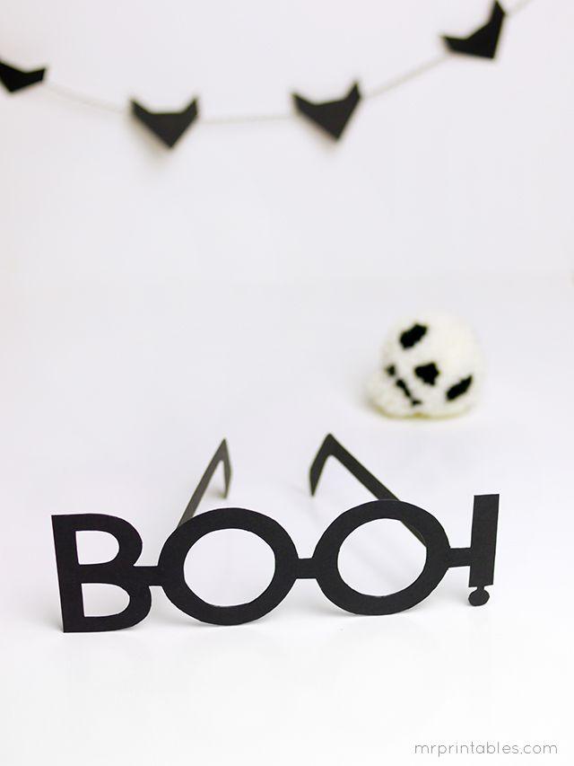 BOO! Halloween Typography Glasses - Mr Printables ❥