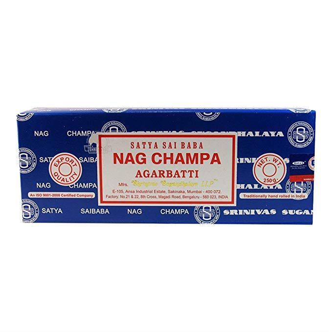 GENUINE SATYA NAG CHAMPA INCENSE STICKS 15G BOX NAMASTE