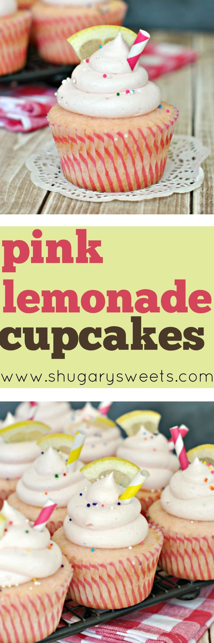 Summer has come to an end, but we can still enjoy these FUN Pink Lemonade Cupcakes! The soft, from scratch, pink lemonade cupcake is topped with a creamy pink lemonade buttercream frosting. Don't forget the fun garnishes too!