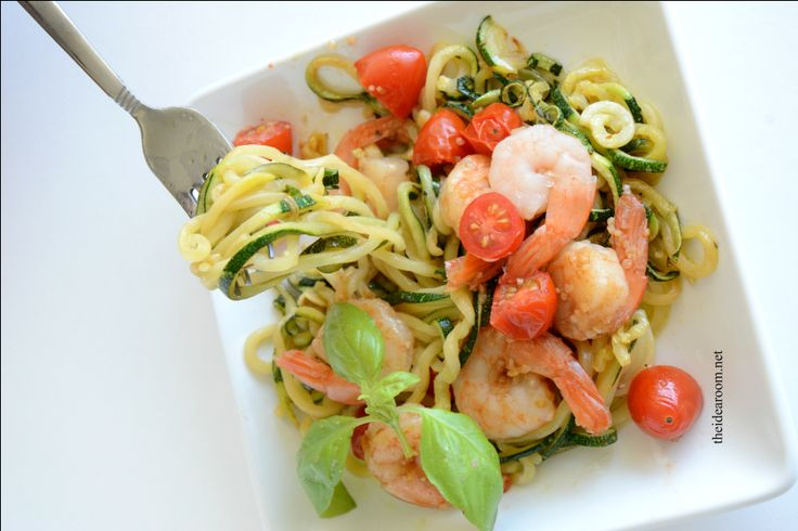 Shrimp Scampi with Zucchini Noodles - The Idea Room