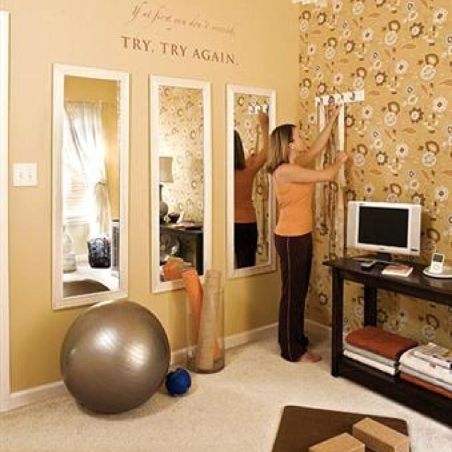 Home Gym Design Ideas: Cheap Wal-Mart Mirrors In Multiples