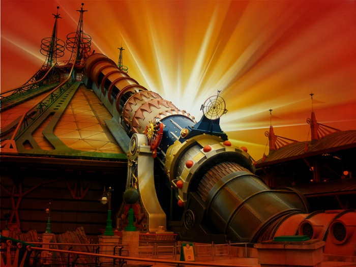 Space mountain in a different daylight (by Rafael from the MagicForum)