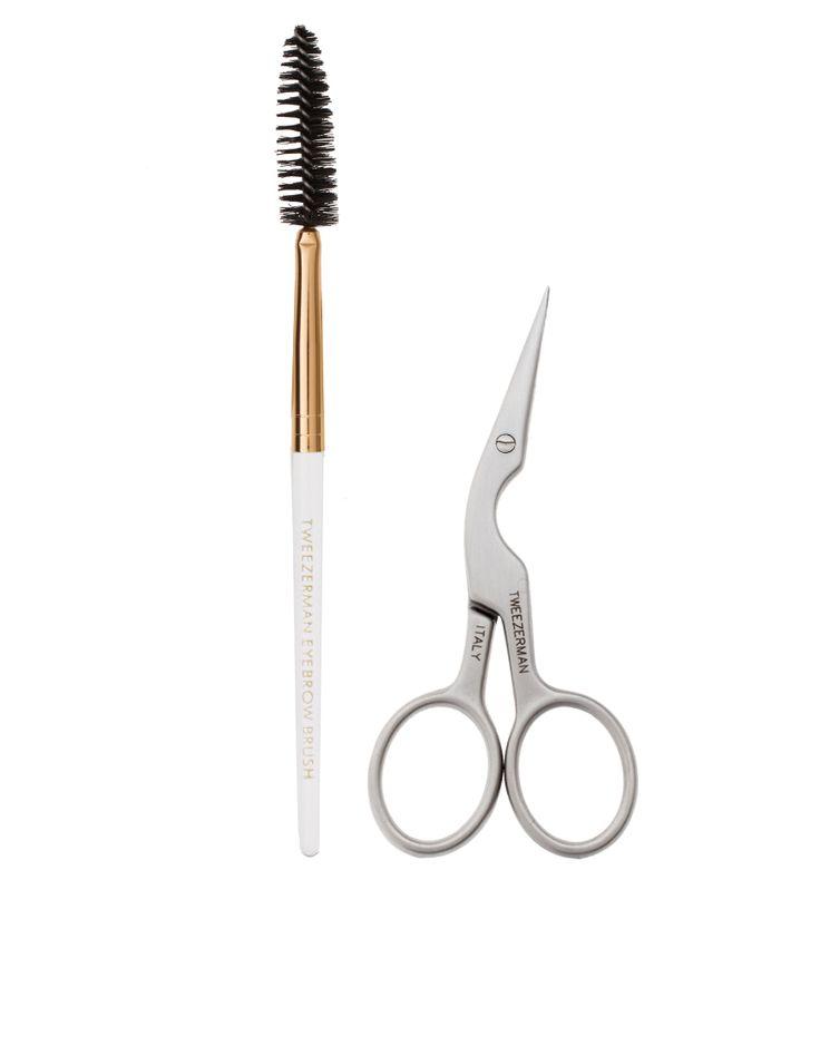 Tweezerman Scissors & Brush Duo