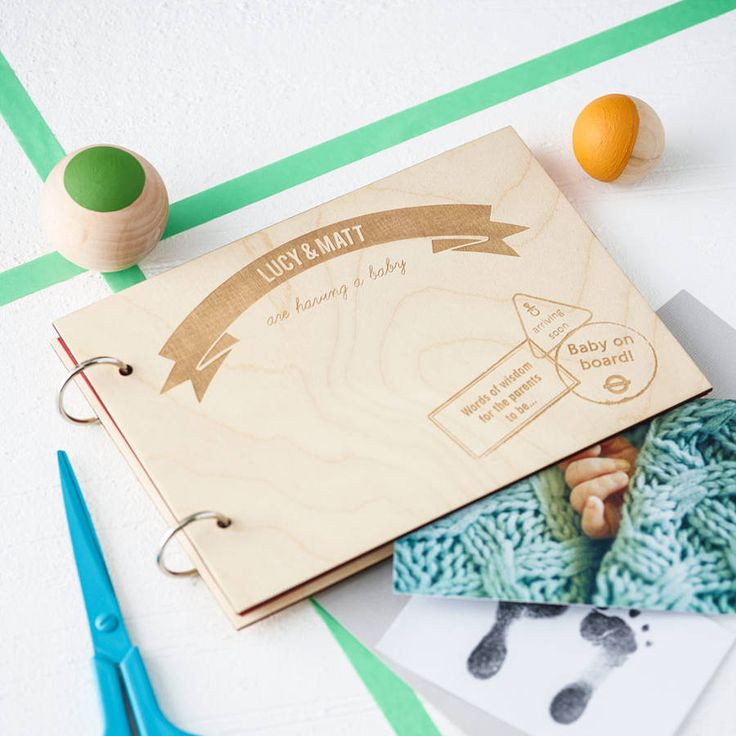 personalised wooden baby keepsake book by clouds and currents | notonthehighstreet.com