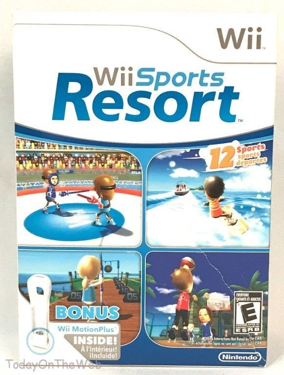 Wii Sports Resort with Wii Motion Plus Controller Attachment Nintendo New Sealed