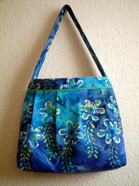 Bag/purse made from cotton batik fabric.