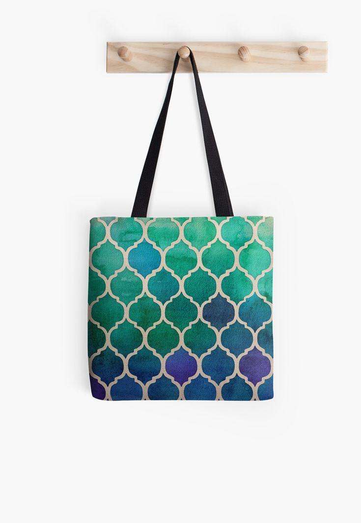 « Mosaique bleu/vert/violet - zellige marocain - morrocain pattern » par LEAROCHE