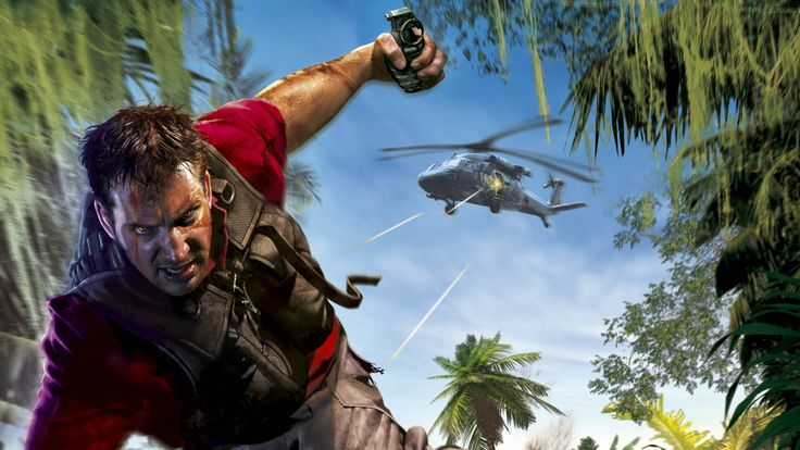Download Far Cry Angry Helicopter Grenade Look Jack Carver Wallpaper Wallpaper