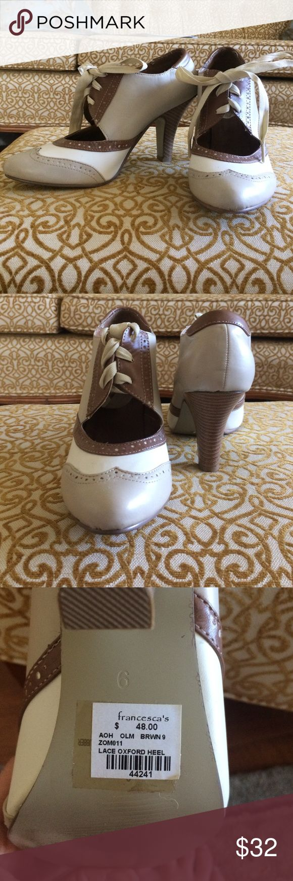 Francesca Lace Oxford Heel size 9 Brand new oxford lace heel size 9. Francesca's Collections Shoes Heels