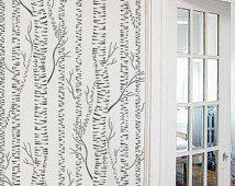 STENCIL for Walls - Silver Birches - Allover tree stencil