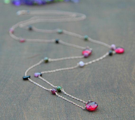 Collana a catena in rilievo WatermelonTourmaline -tormalina briolette perline e perle tonde -Fatto con catena placcata oro di rosa dellargento sterlina 925, chiusura e filo  ~~~~~~~~~~~~~~~~~~~~~~~~~~~~~~~~~~~~~~~~~~~~~~~~~~~~~~~~~~~~ Si prega di aggiungere una nota se avete bisogno di qualsiasi altro cambiamento ~~~~~~~~~~~~~~~~~~~~~~~~~~~~~~~~~~~~~~~~~~~~~~~~~~~~~~~~~~~~  Se avete qualsiasi domanda non esitate a chiedere Grazie per la visita! :-)