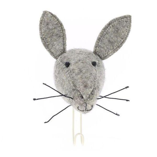 Fiona Walker England Felt Hare Head Coat Hook