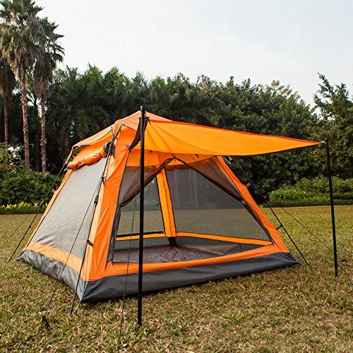 Introducing Funs Instant Setup 45 Person 3 Season Water Resistant Tent Double Door Double Window with & 27 best Camping Tents - 5 Persons images on Pinterest | Tents ...