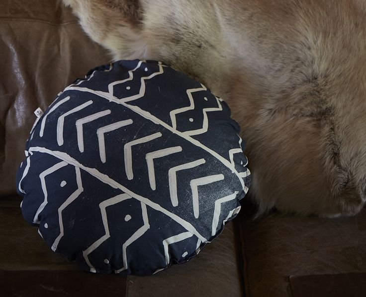 Pony Rider — Cushions inspired by mud cloth