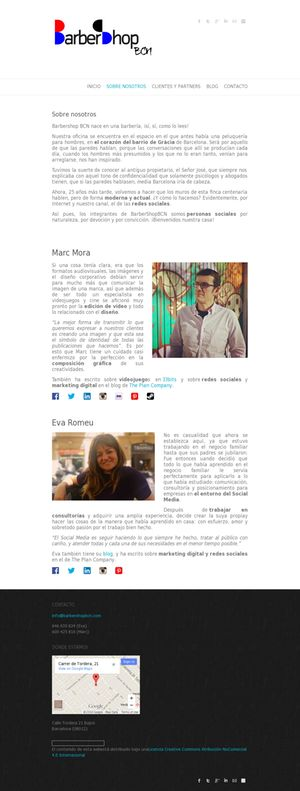 ¿Quién somos? @MarcMoraA y una servidora  http://www.barbershopbcn.com/sobre-nosotros/  #socialmedia #communitymanagement #marketing
