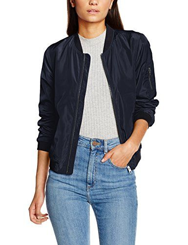 ONLY Damen Jacke Onllinea Nylon Short Jacket Otw Noos, Blau (Night Sky), 06b1dce06375
